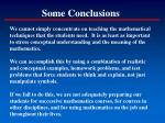 some conclusions69