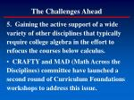 the challenges ahead178