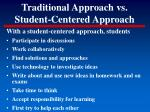 traditional approach vs student centered approach79