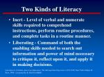 two kinds of literacy