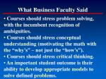 what business faculty said126