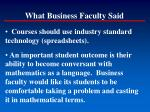 what business faculty said127