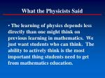 what the physicists said122