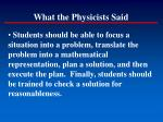 what the physicists said123