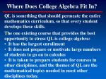 where does college algebra fit in