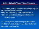 why students take these courses116