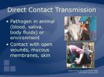 direct contact transmission