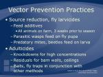 vector prevention practices50