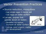 vector prevention practices52