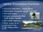 vector prevention practices53