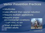 vector prevention practices55