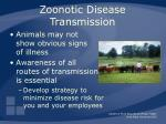 zoonotic disease transmission