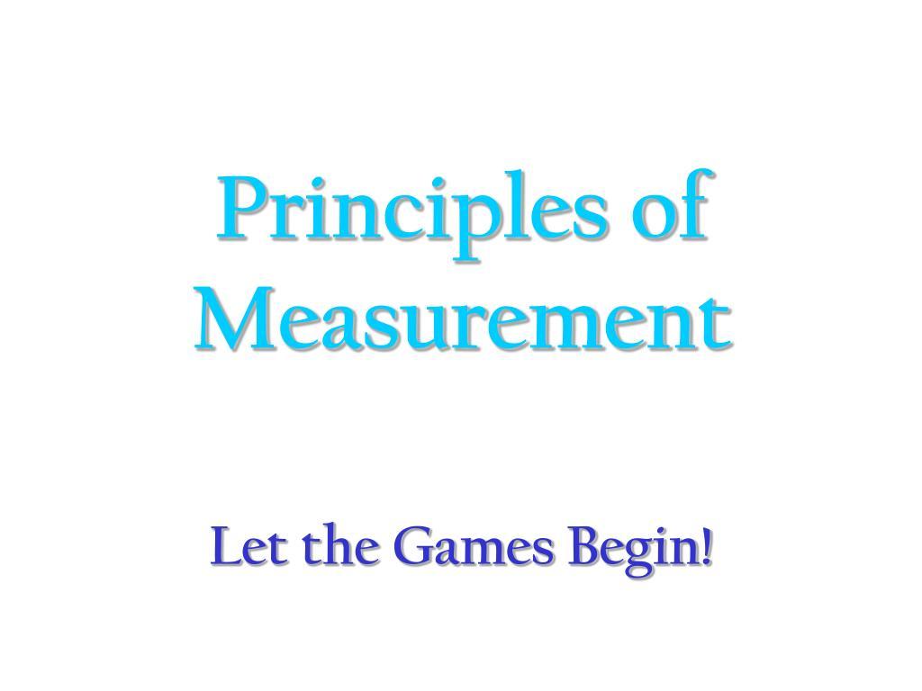 principles of measurement l.