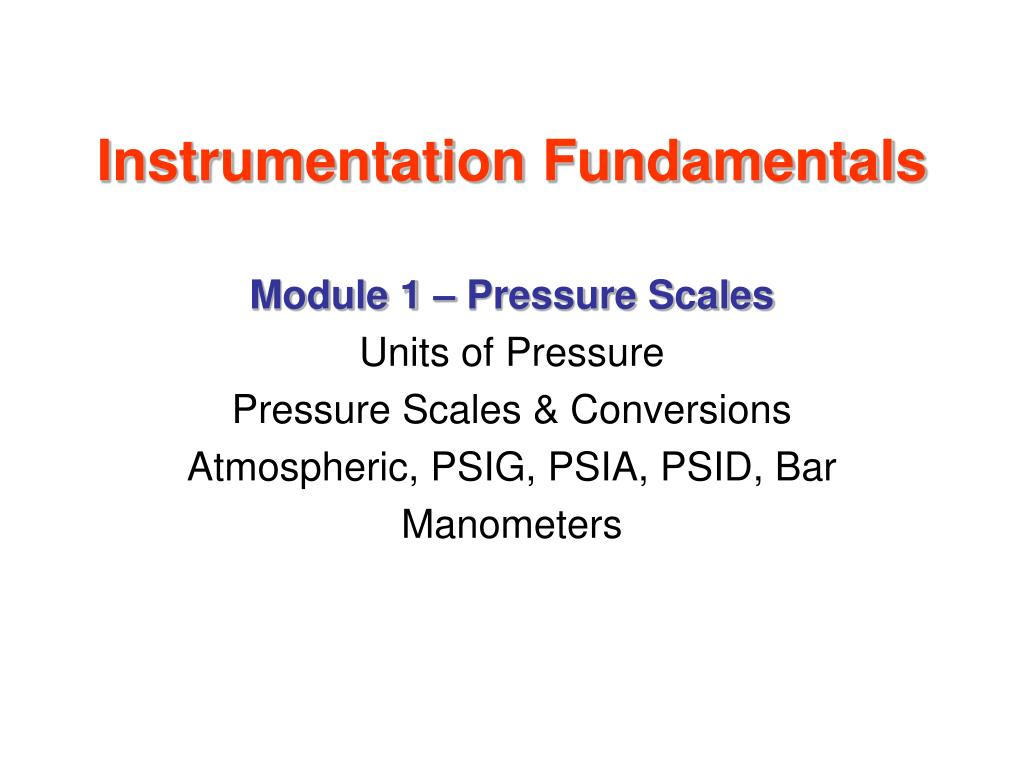 instrumentation fundamentals l.