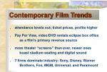 contemporary film trends