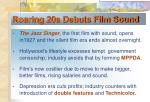 roaring 20s debuts film sound