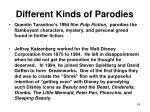 different kinds of parodies