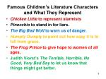 famous children s literature characters and what they represent