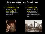 condemnation vs conviction