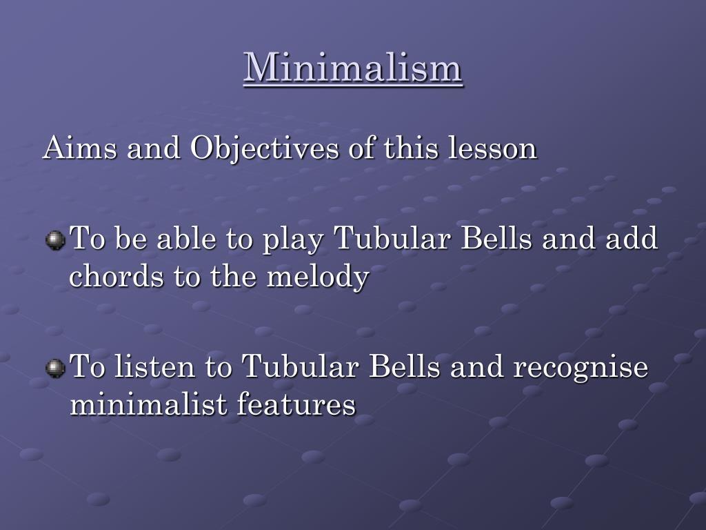 minimalism l.