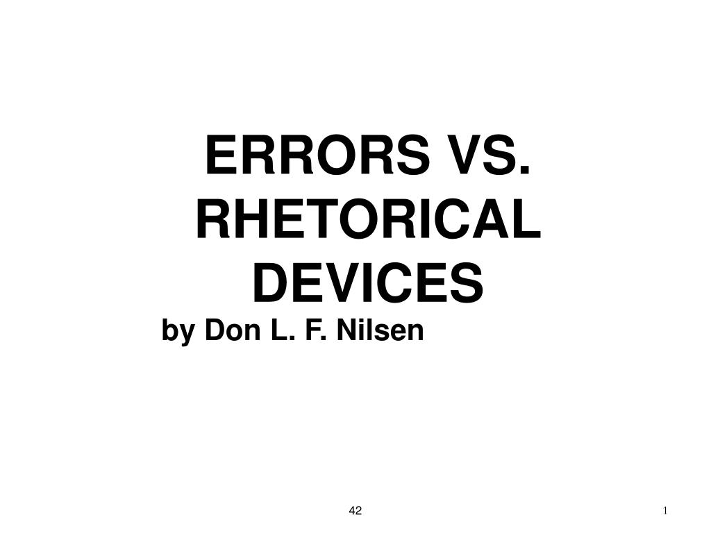 errors vs rhetorical devices l.