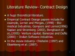 literature review contract design