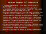 literature review soft information