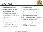 topics week 1
