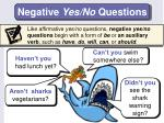 negative yes no questions