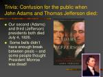 trivia confusion for the public when john adams and thomas jefferson died