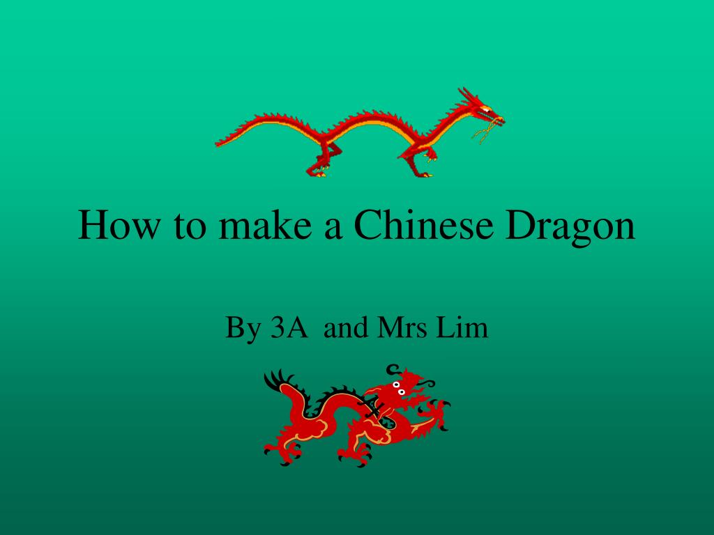 how to make a chinese dragon l.
