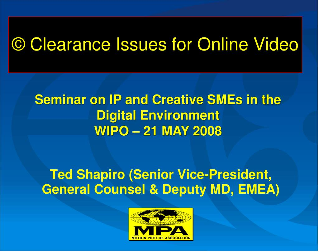 clearance issues for online video l.