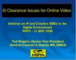 clearance issues for online video