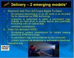 delivery 2 emerging models