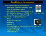new modes of retransmission