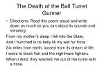 the death of the ball turret gunner