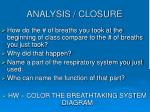 analysis closure