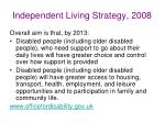 independent living strategy 2008