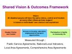 shared vision outcomes framework
