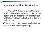 incentives for film production