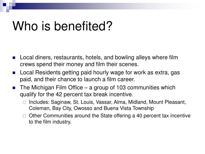 Who is benefited