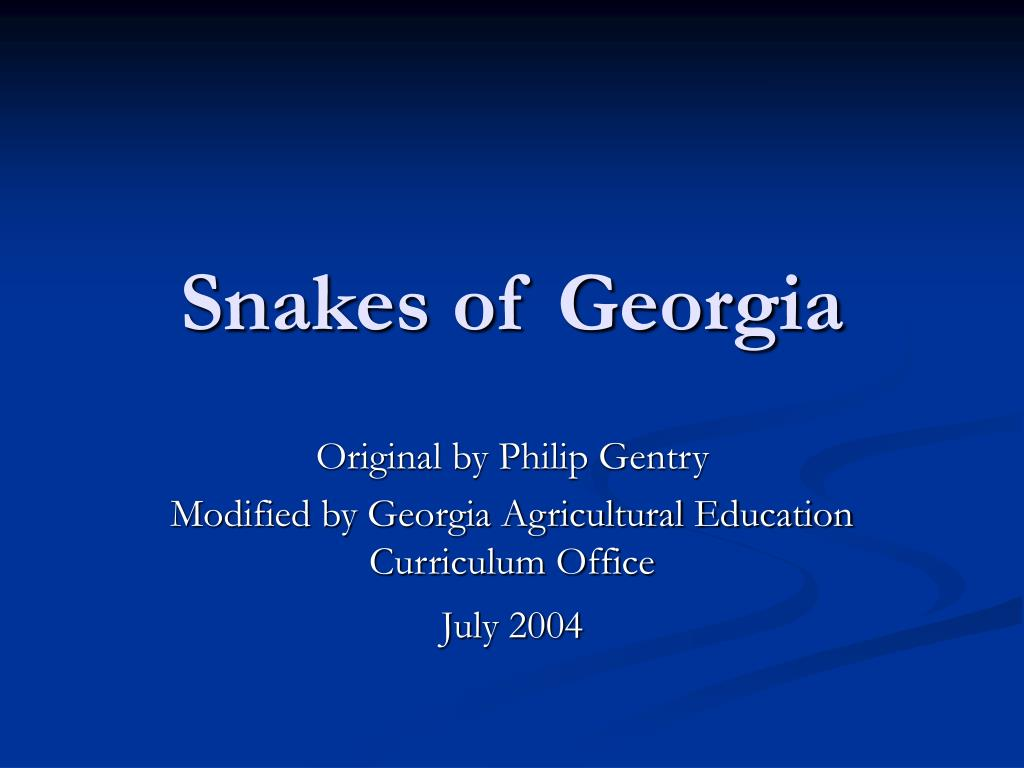 snakes of georgia l.