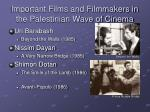 important films and filmmakers in the palestinian wave of cinema