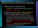 biblical events confirmed by historians