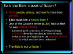 so is the bible a book of fiction