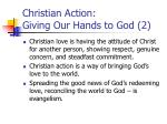 christian action giving our hands to god 2
