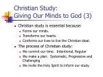 christian study giving our minds to god 3