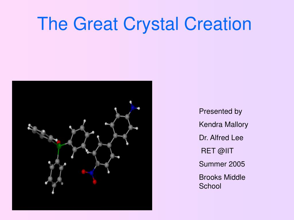 the great crystal creation l.