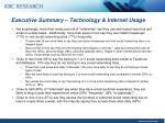 executive summary technology internet usage