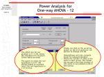 power analysis for one way anova 12